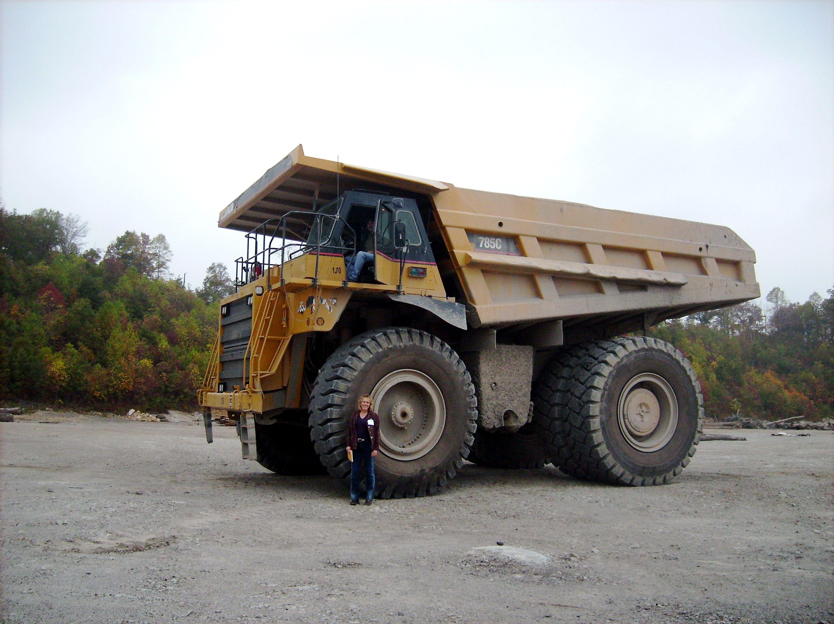 Dump truck huge dump trucks haul away the rock topsoil and waste that become