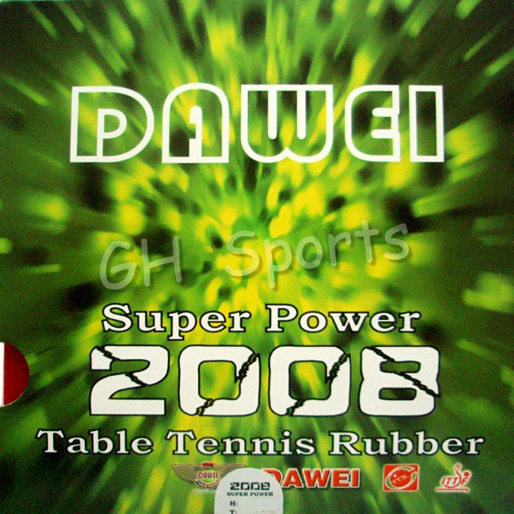 4 X DAWEI SUPER POWER 2008 PIPS IN TABLE TENNIS RUBBER  NEW