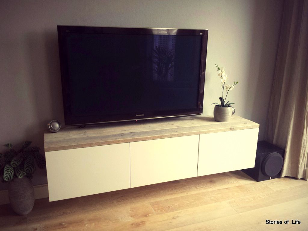 BESTA TV Meubel Steigerhout   DIY   Pinterest   TVs, Apartment living and Living rooms