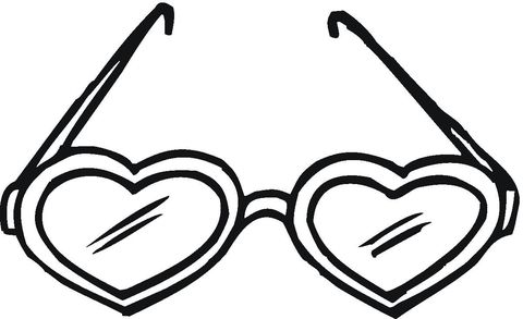 Heart Shaped Sunglasses Coloring Page Heart Coloring Pages