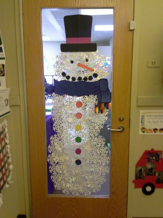 Winter Door Decor Would Be So Cute If I Had A Large Glass