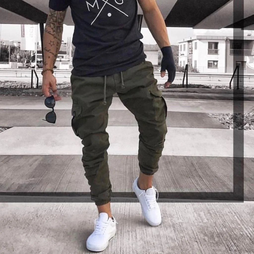 2019 Men's Army Green Harem Pants is part of Sneakers men fashion - Product  Name 2019 men's army green  harem pants Brand Halobros SKU SY7BCFC640F2 Gender Man Style Leisure Type pants Occasion Daily Life Material Please NoteAll dimensions are measured manually   with a deviation of 1 to 3cm Waist Outseam FrontRise BackRise inch cm inch cm inch cm inch cm M 29 74 43 108 12