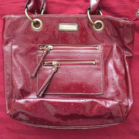 Strada Purse Burgundy Medium Size Not Used Many Times Bags