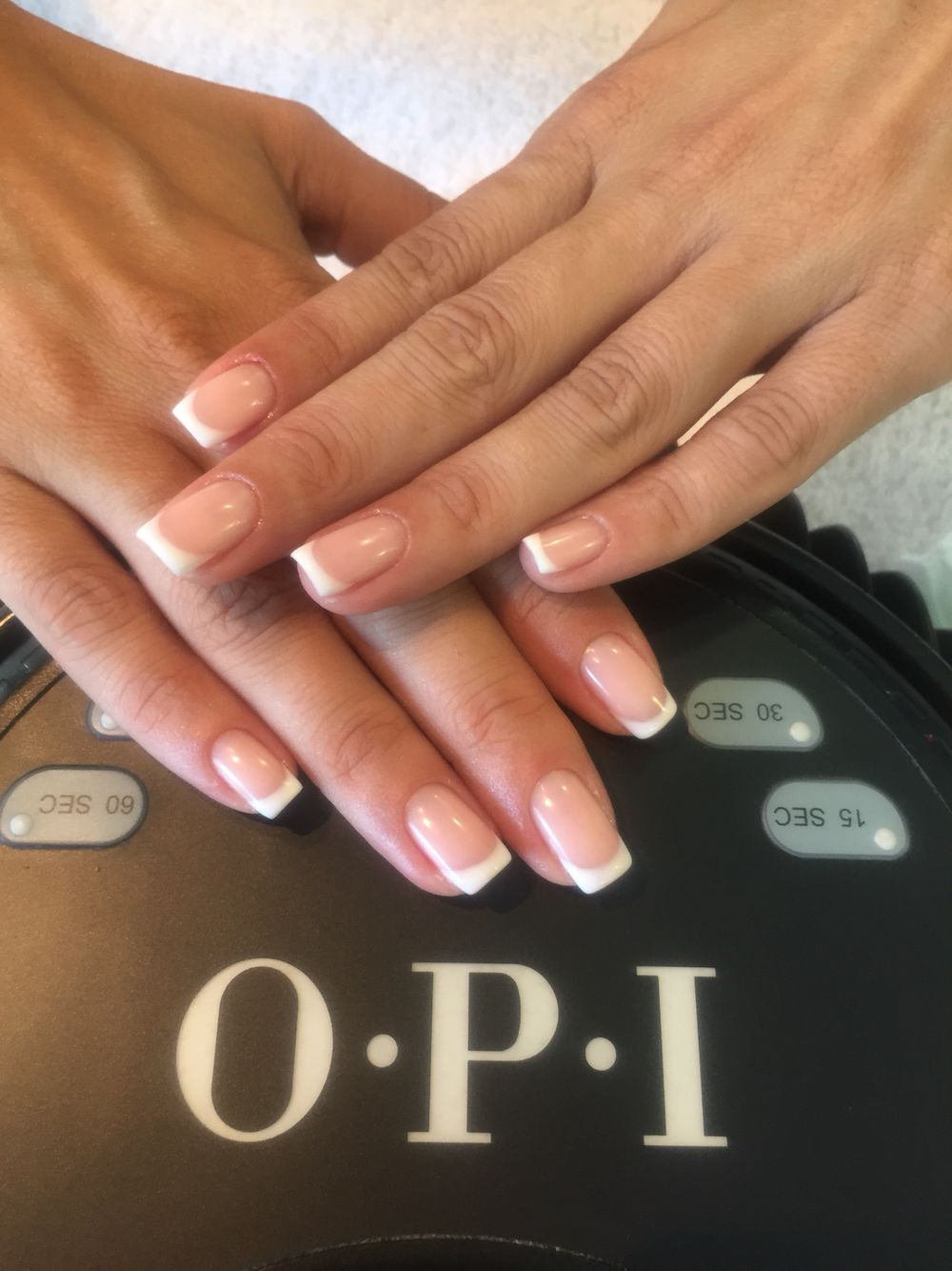 French Nails Opi Semipermanent Bubllebath Alpinesnow Nails