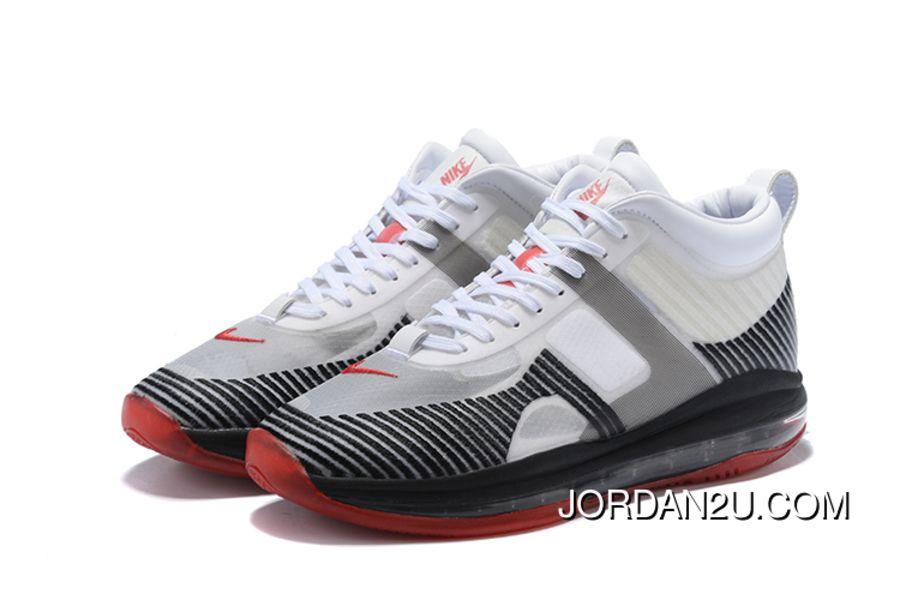 ea4cf7626f9 Nike LeBron X John Elliott Icon Qs White Black-Red New Style ...