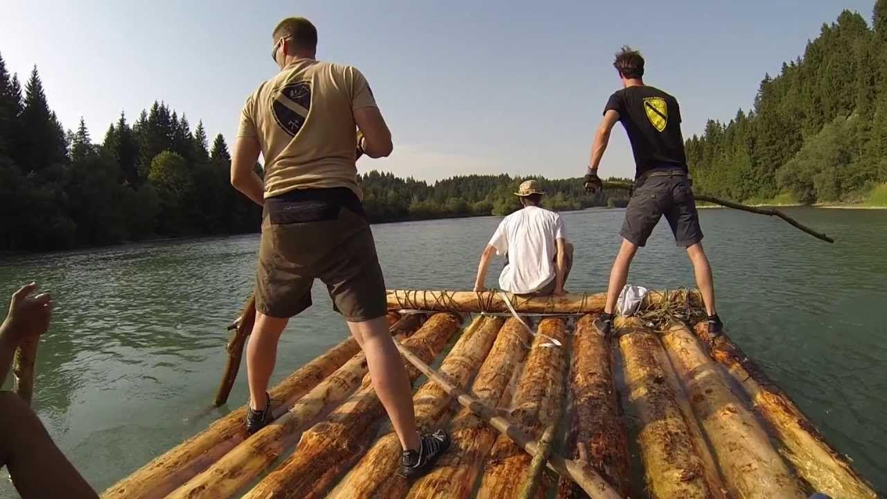 floß bauen | projekt boot | pinterest | rafting, youtube und history