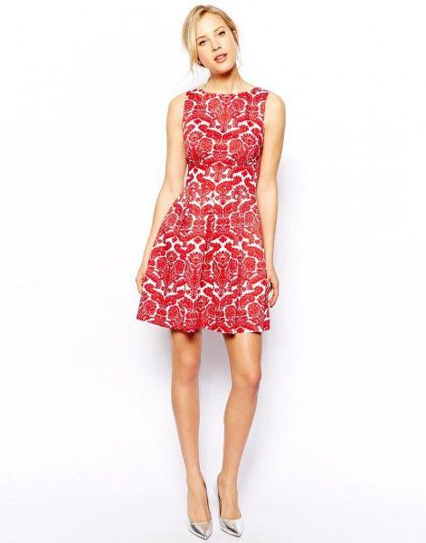 16df00eca Vestido corto en rojo y blanco con bolsillos | AuraMarinaRodriguez ...