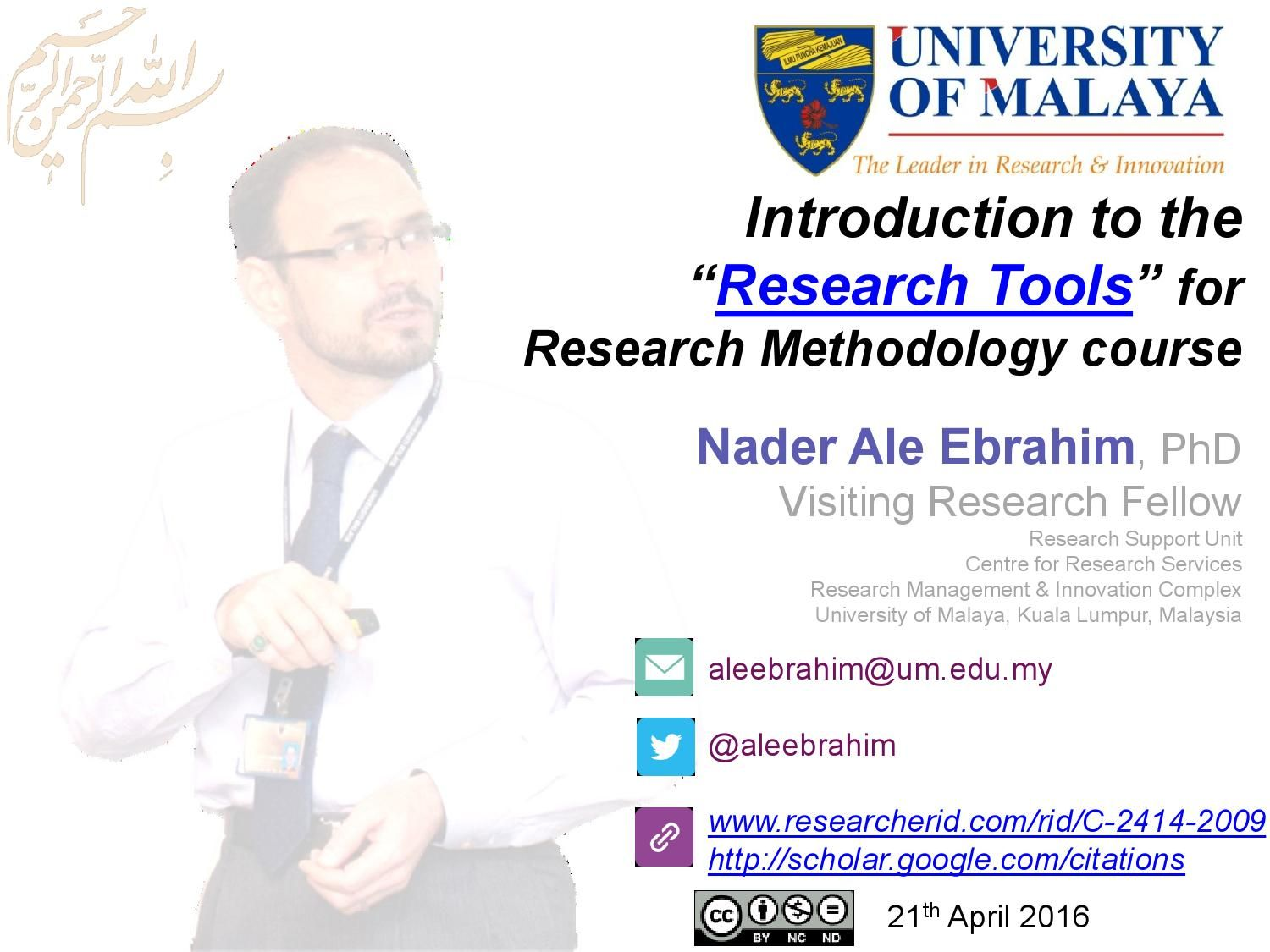 Introduction To The Research Tools For Research Methodology Course Science Blog Literature Search University Management