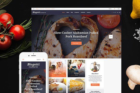 Blogetti - Food Blog WordPress Theme by TemplateMonster on ...