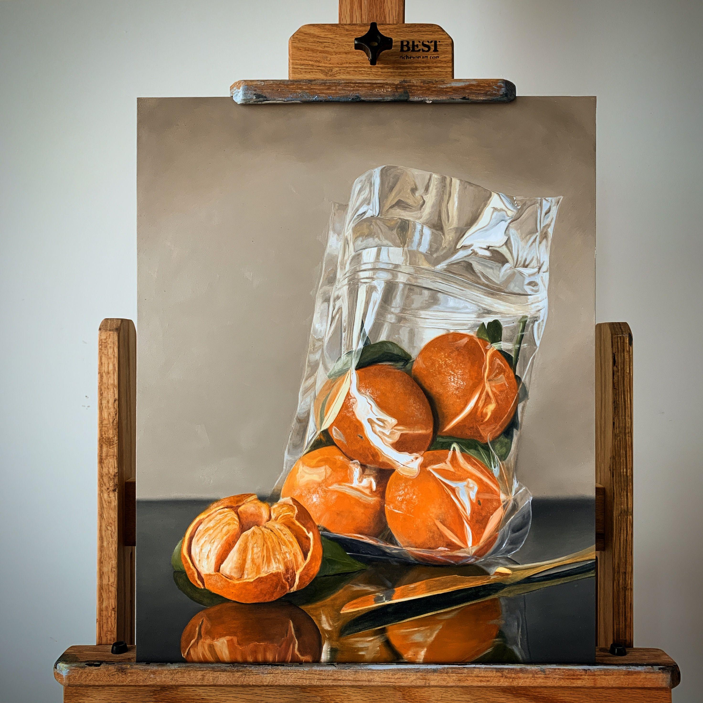 16x20 Mandarin Still Life Oil Painting By Artist Lorn Curry