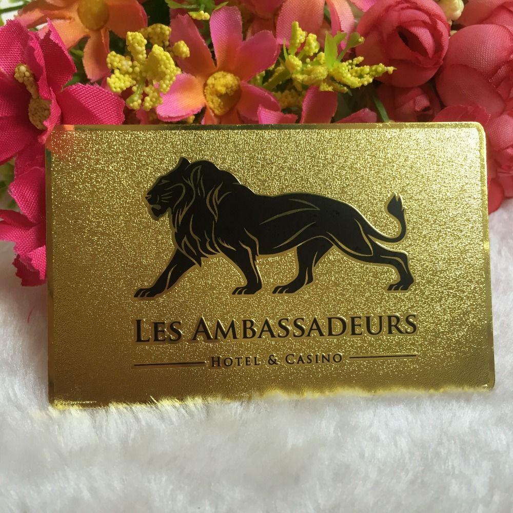 Custom metal business card golden deluxe metal business card custom metal business card golden deluxe metal business card printing visit carddouble colourmoves