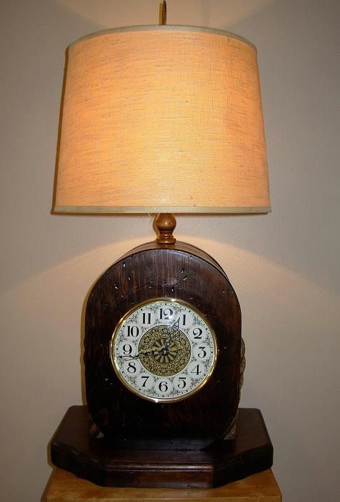 Large Vintage Nautical Pulley Clock Lamp By Seamynauticalvintage Clock Vintage Nautical Lamp