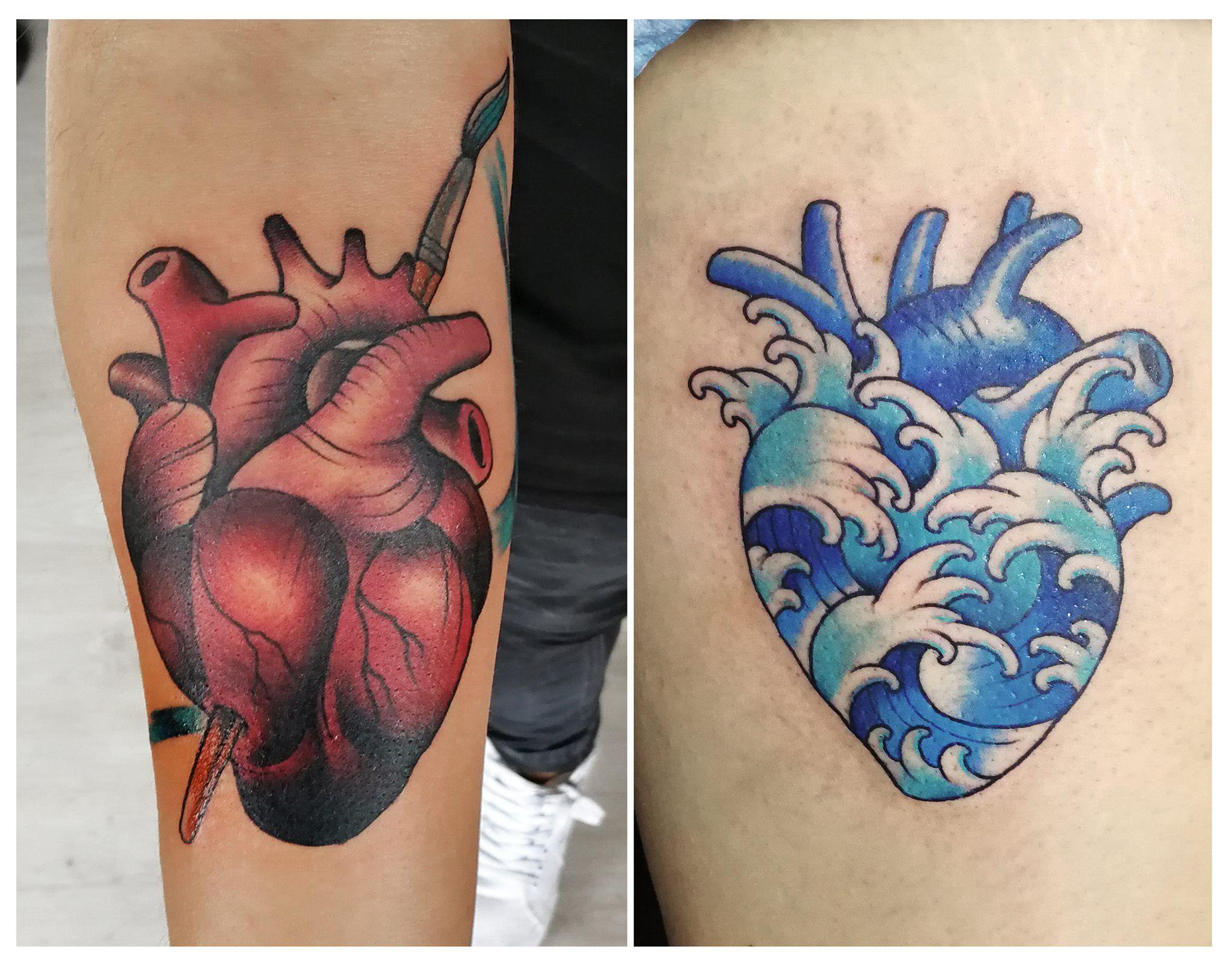 Tatuaje Corazon Heart Tattoo Corazon Del Mar Tatuaje Tattoo