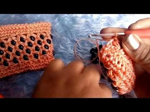Monedero tejido con cuentas puntada reunión de señoritas - YouTube
