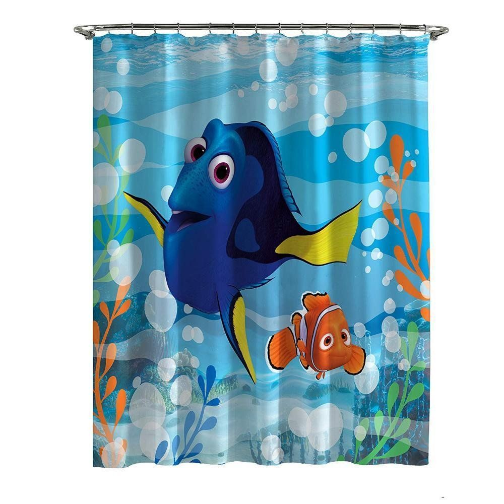 Disney Pixar Finding Dory Nemo Microfiber Shower Curtain For More Information Visit Image Link This Is An Af Vinyl Shower Curtains Kids Bathroom Accessories Shower Curtains Walmart