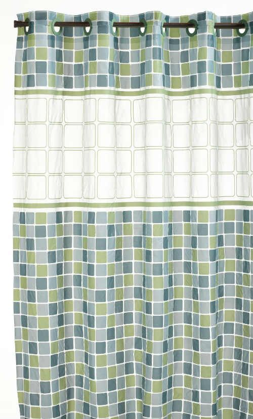 BEST SHOWER CURTAINS Hookless PEVA Shower Curtain Mosaic Jade Click For Top 5 List