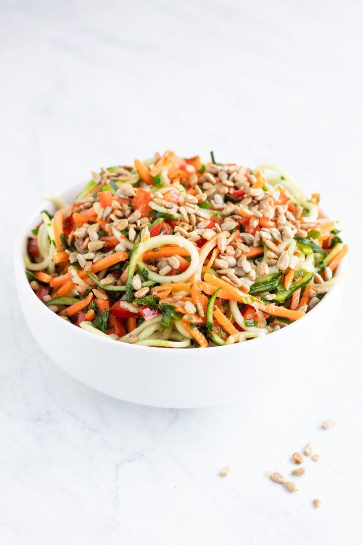 Low Fodmap Asian Zoodle Salad