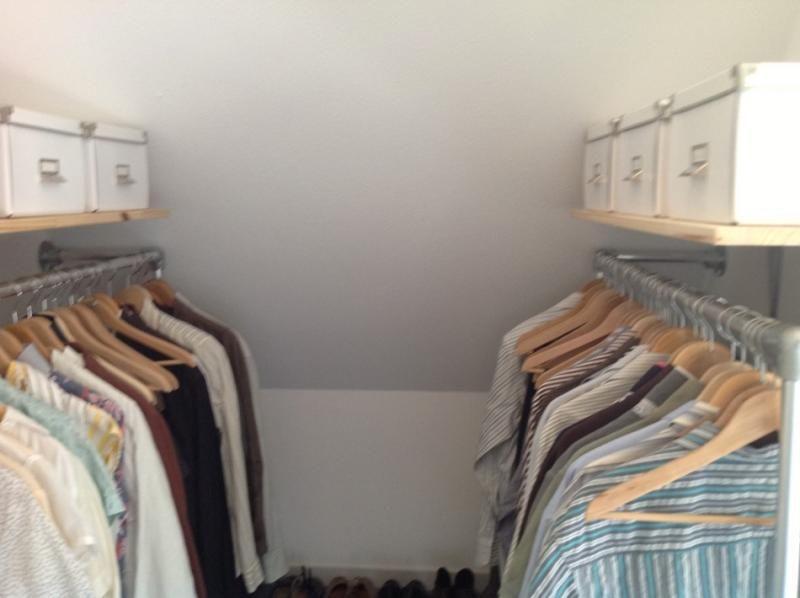 Kleine Ensuite Inloopkast : Inloopkast maken met steigerbuis slaapkamer in
