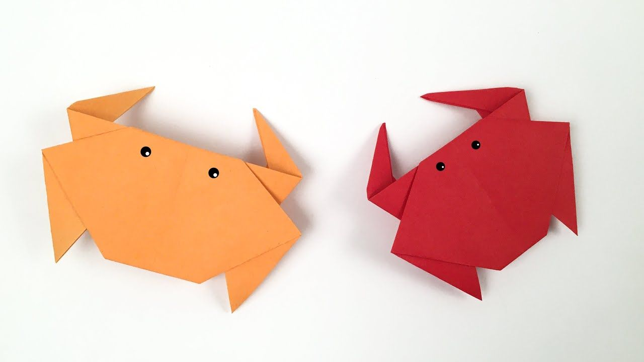 Easy Origami Crab Easy Tutorial How To Make An Easy Origami Crab In 2020 Origami Easy Origami Easy Tutorial