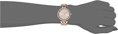 eeb83c5edab3 Michael Kors Women s MK3366 Darci Analog Display Analog Quartz Rose Gold  Watch Rose gold-plated stainless steel case and bracelet. Fold-over clasp  closure ...