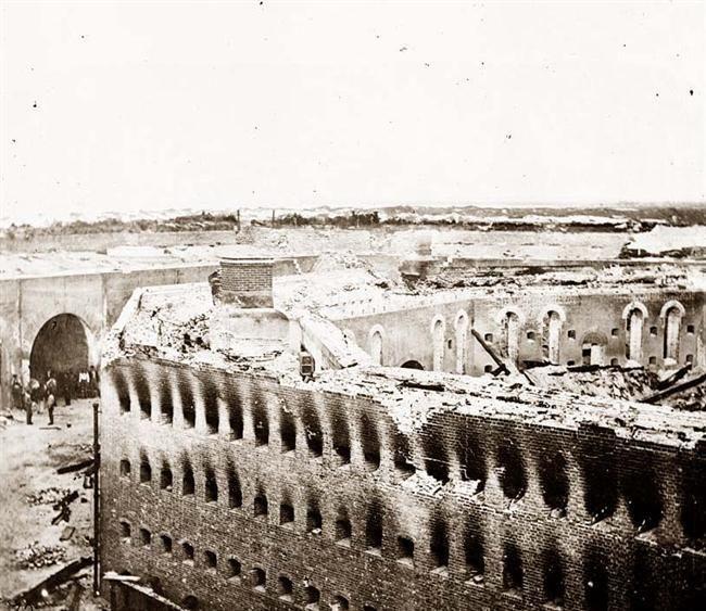 Ruins Of Fort Morgan After The Battle Of Mobile Bay Civil War Alabama Fort Morgan Civil War History