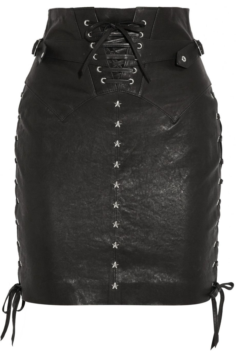 Isabel MarantYaele lace-up leather skirt