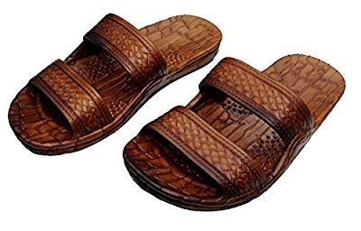 3c4581752 Hawaii Brown or Black Jesus sandal Slipper for Men Women and Teen Classic  Style