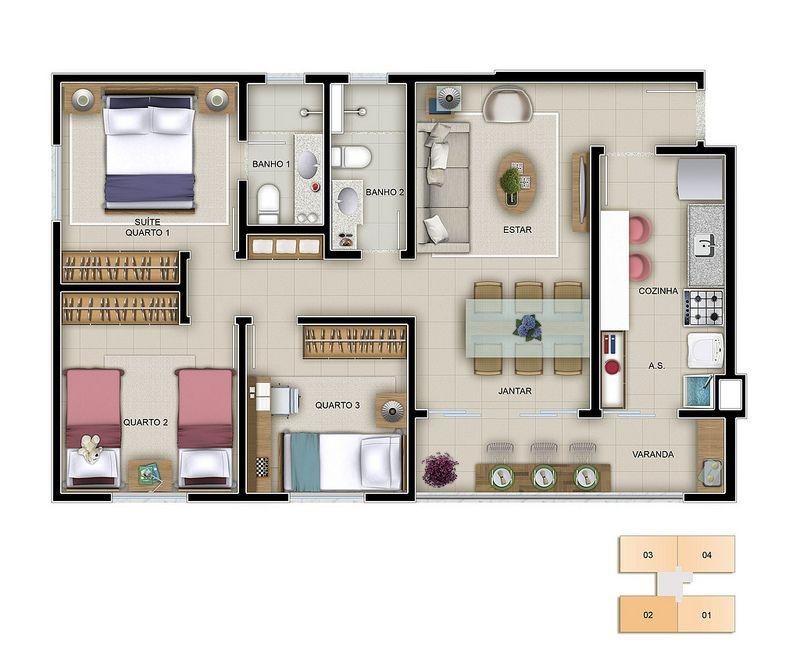 Resultado de imagen para imagenes de casas en en planta - Planos de casas planta baja ...