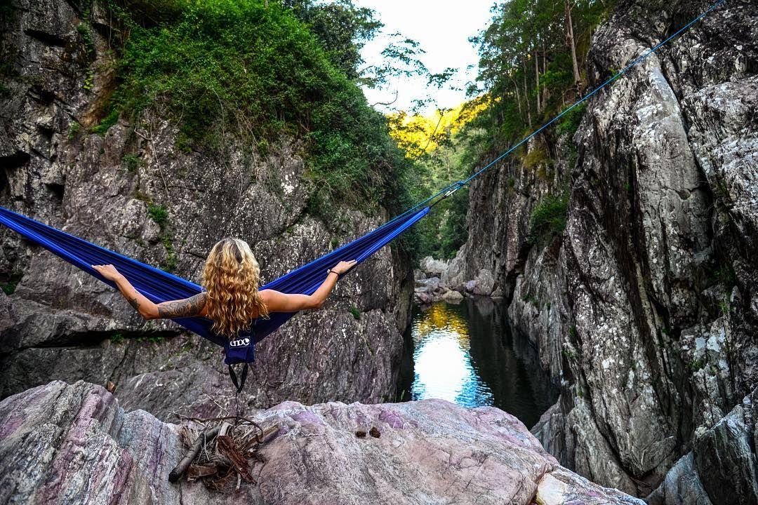 Life is better with a hammock #eno #thisisqueensland #booloumbacreek #sunshinecoast #visitbrisbane #visitsunshinecoast #SeeAustralia #hammock #hammocklife #camping #nikon by @adventure.man.dan
