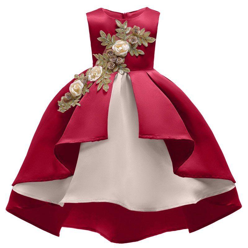Fleur Filles De Mariage Robe Pour Fille De Paques Carnaval Costume Pour Enfants Partie Robes Enfants Princesse Robe Robe Princesse Robe Africaine Fillette Robe