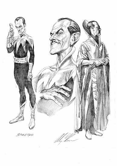 Sinestro Character Design By Alex Ross Com Imagens Desenhos