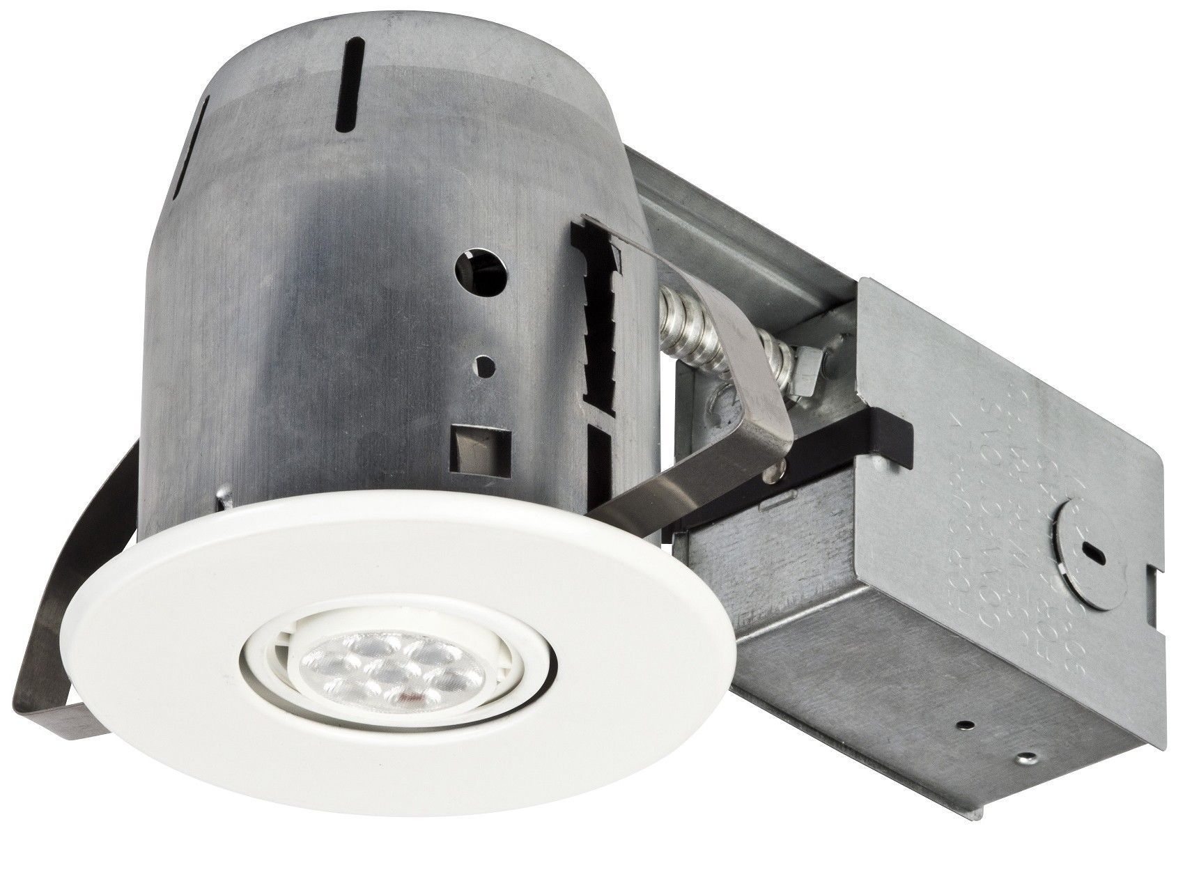 led integrated ic rated swivel spotlight 4 recessed kit set of 4
