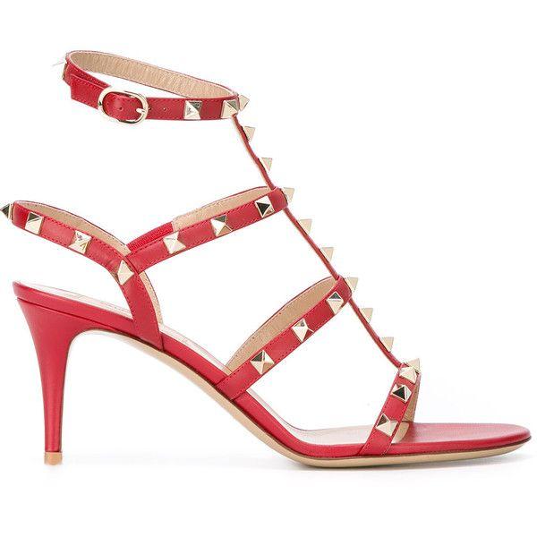 c7b5ad4e22c2 Valentino Garavani Rockstud sandals ( 995) ❤ liked on Polyvore featuring  shoes