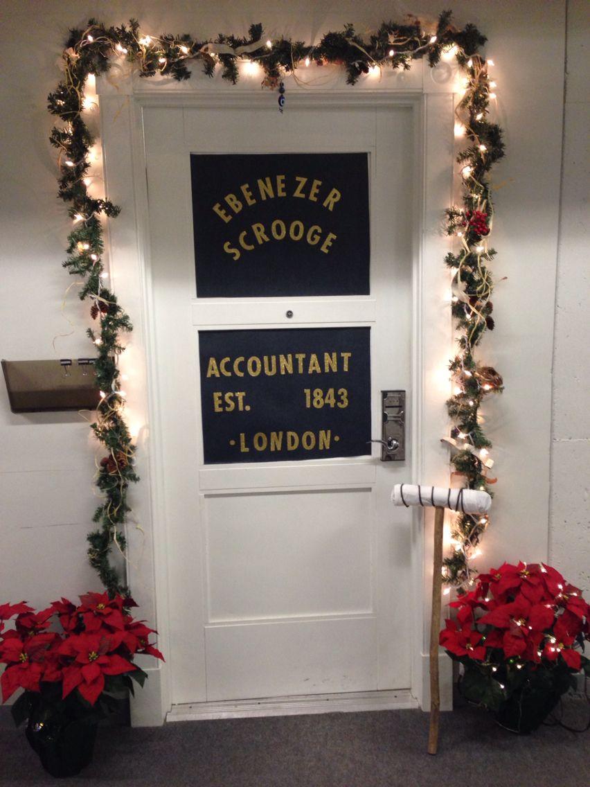 Scrooge, A Christmas Carol, Door Decorations