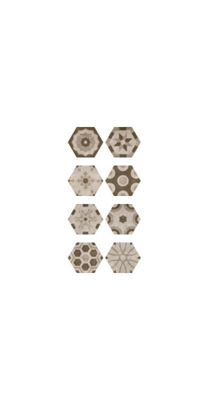 "Miseno MT-G4563 Rhone - 9-5/8"" X 11"" X 3/8"" - Stone Visual - Hexagon Multi-Surfa Dijon Tile Multi-Surface Tile"
