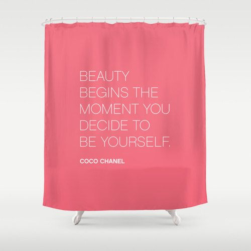 Coco Chanel Be Yourself Quote Shower Curtain By Thingsthatsing
