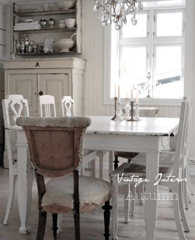 I don't like the chair in the foreground, but otherwise, love this cottage chic.