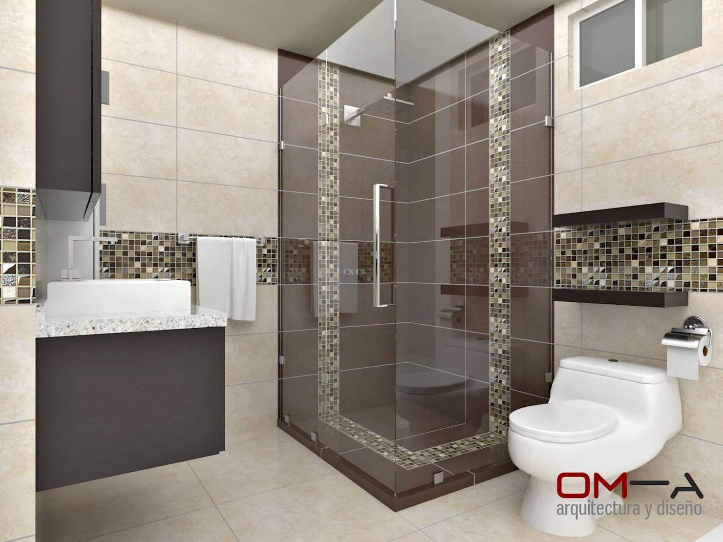 Diseño interior en apartamento, espacio baño principal ...