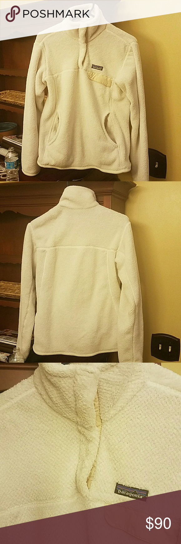Patagonia fleece pullover Excellent condition Patagonia 3/4 button fleece pullover Patagonia Jackets & Coats