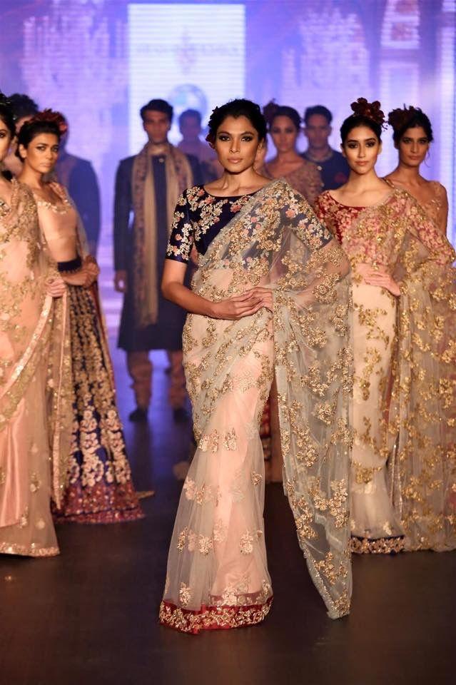 54b246cb067ea Shyamal and Bhumika sarees | Saree blouses and draping. | Shyamal ...