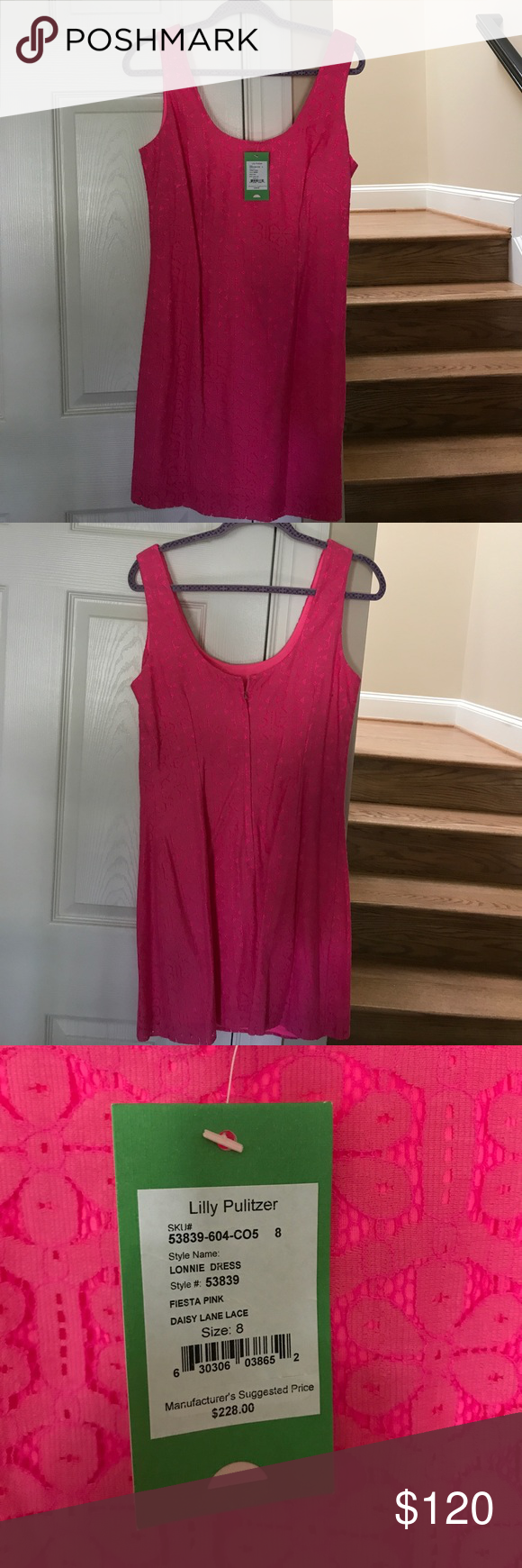 Lilly Pulitzer Lonnie Dress Lilly Pulitzer Lonnie Dress in fiesta pink. Never worn with original tags, originally $228 Lilly Pulitzer Dresses Mini