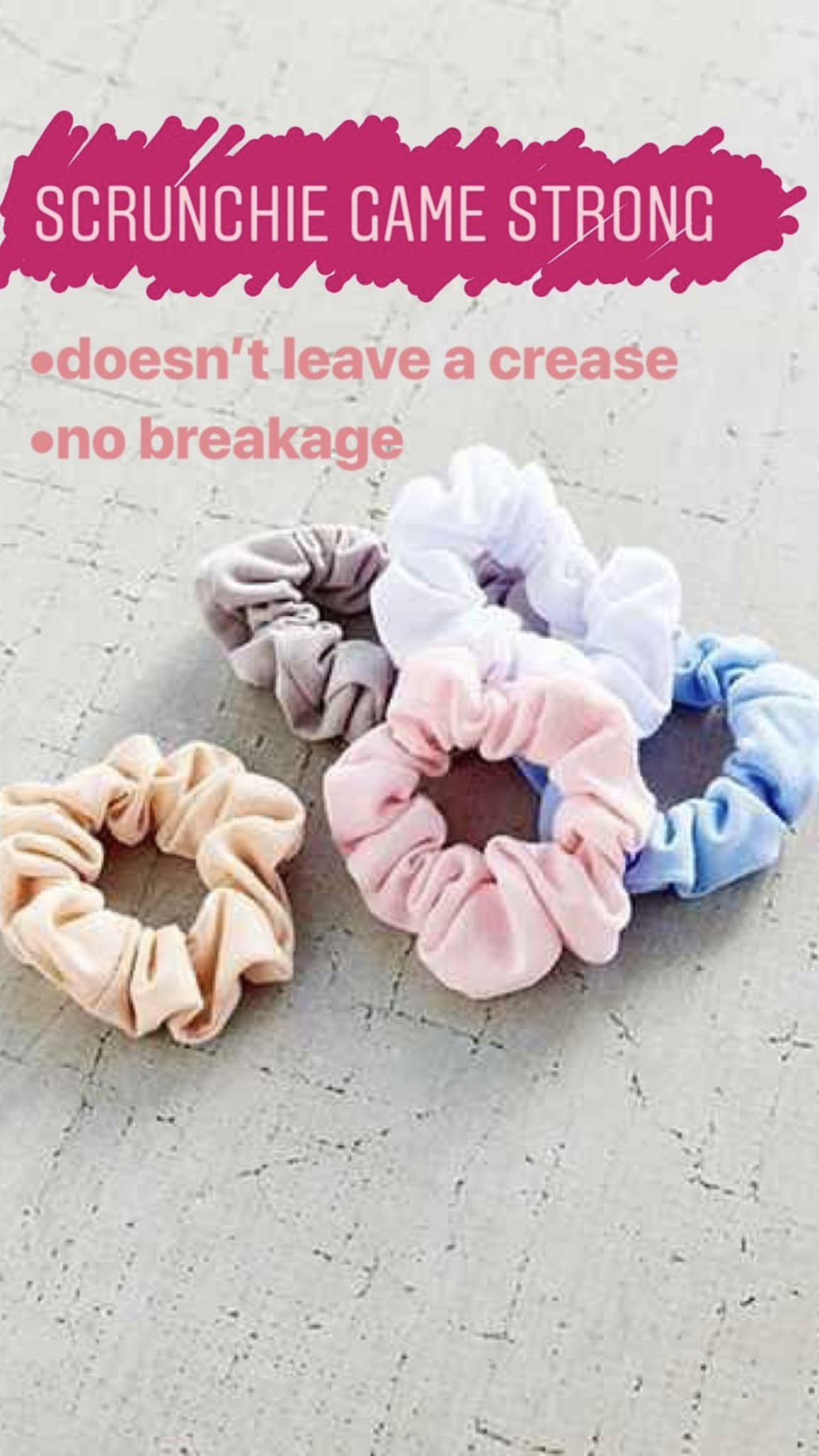 Use scrunchies instead of hair ties to prevent breakage and damage. sleep  in scrunchies. Sleep hair 4a04084e675