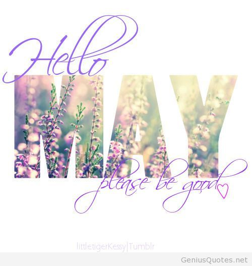Hello May Please Be Good Hello May Quotes May Month Quotes
