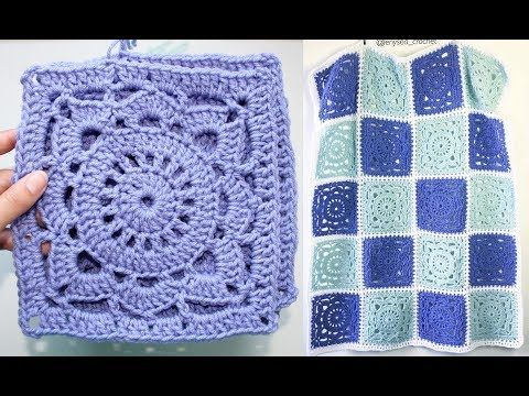How To Crochet a Vintage Granny Square - YouTube | Häkeln ...