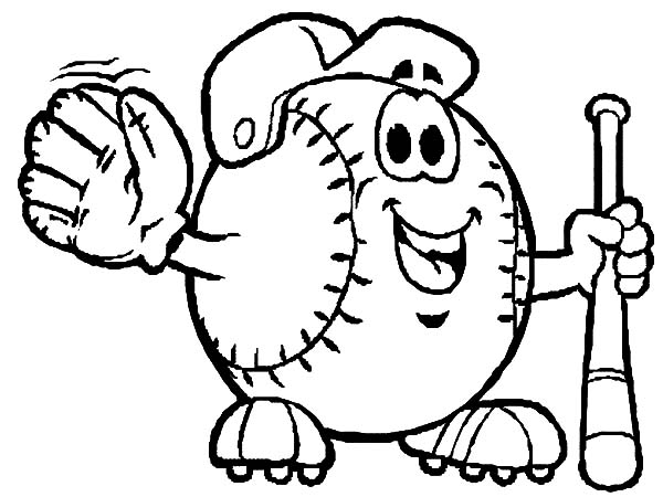 Mr Baseball Mascot In Mlb Coloring Page Color Luna In 2020 Baseball Coloring Pages Coloring Pages Cute Coloring Pages