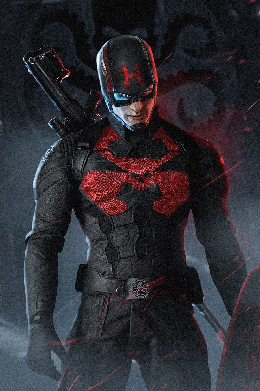 Captain America Hydra Costume by BossLogic What Chris Evans Looks ...