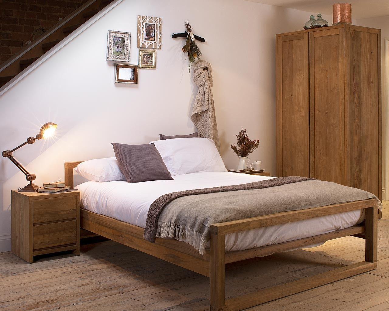 Platform Beds Mino Light Teak Bed Reclaimed Teak