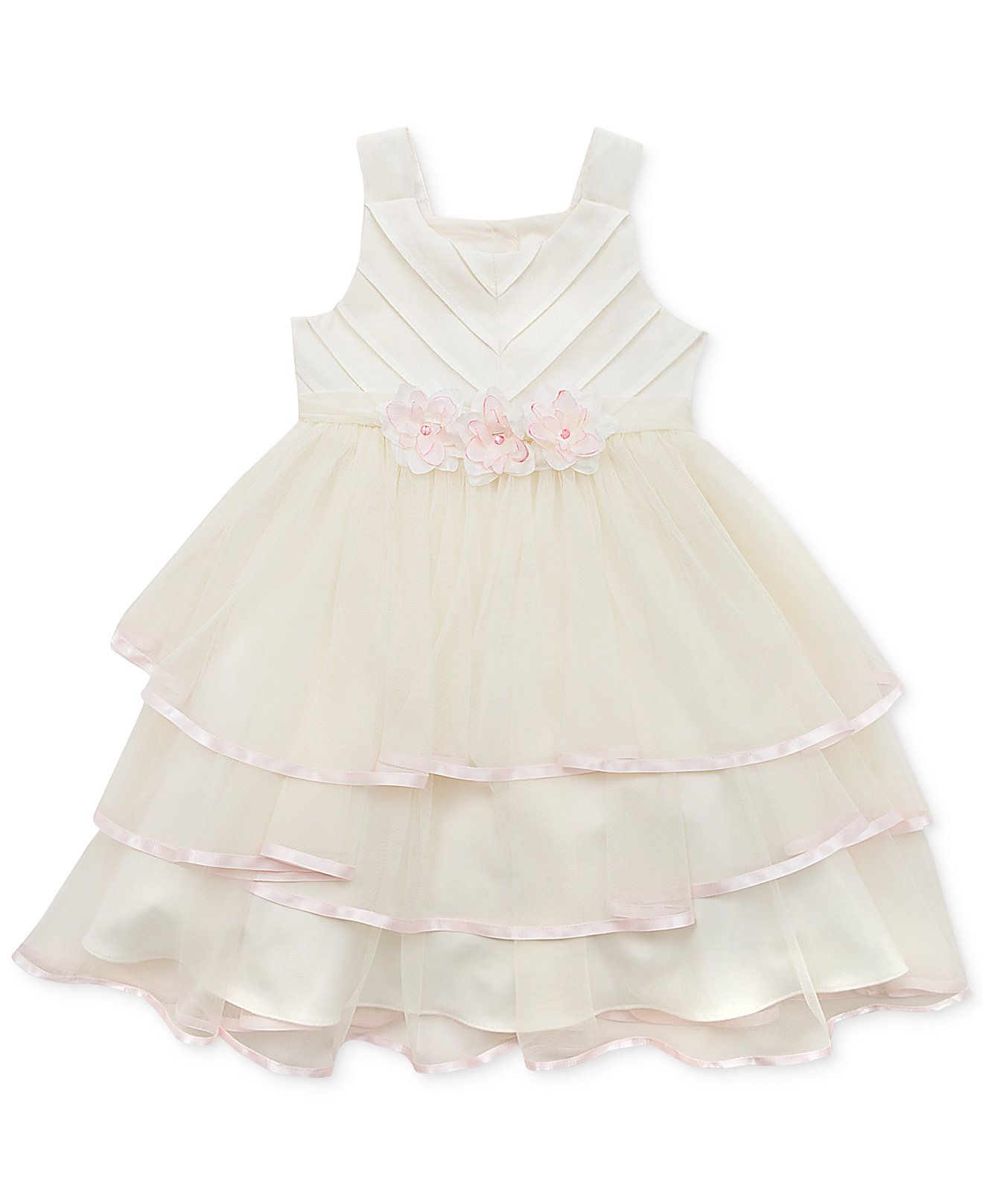 Rare editions little girlsu tiered dress kids dresses u dresswear