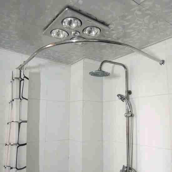 Corner Tub Shower Curtain Rod Decor Ideas Shower Curtain Rods