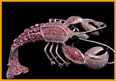 pink crystal lobster